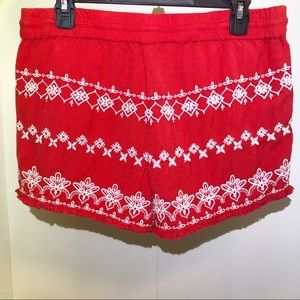 Loft Embroidered Shorts Size Small